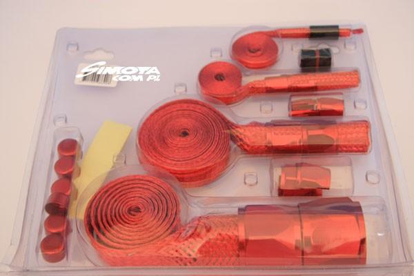 Oploty przewodów SIMOTA - RED - GRUBYGARAGE - Sklep Tuningowy